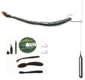 Дроп-шот состоит из грузила и крючка с насаженной силиконовой приманкой