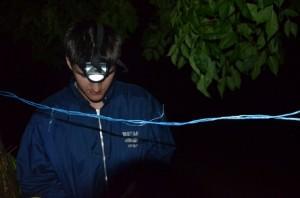 Налобный фонарик для ловли леща ночью