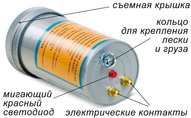 Схема устройства электронной приманки Супер Клев