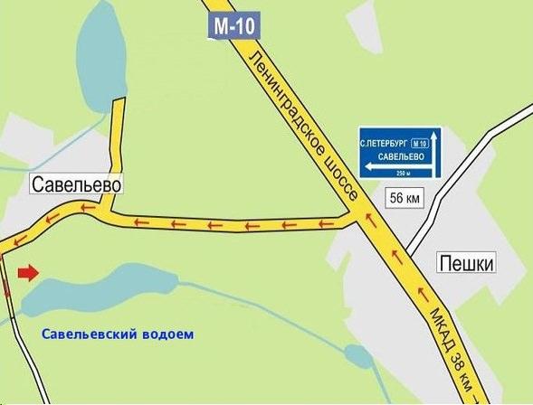 Деревня Савельево на карте