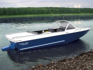Лодка с водометным движителем