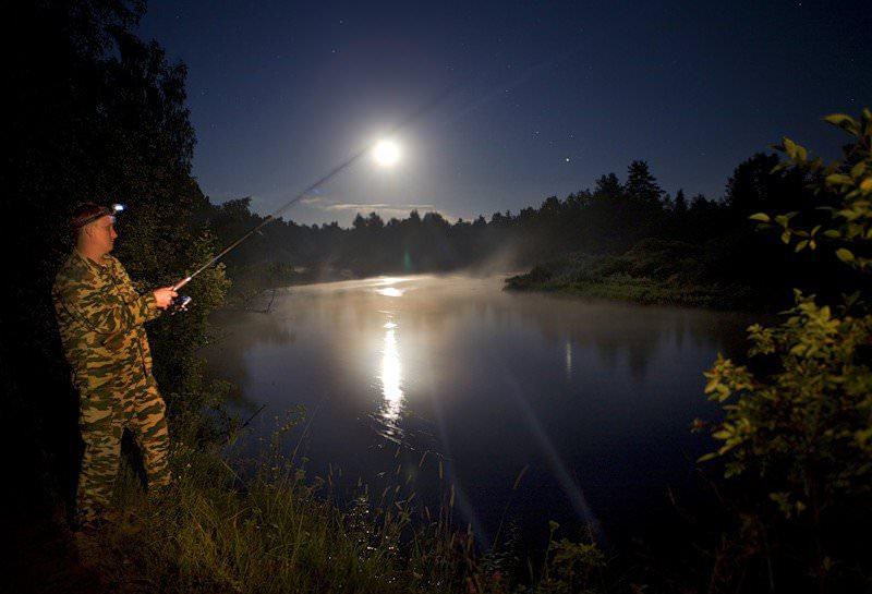 вечером ловить рыбу