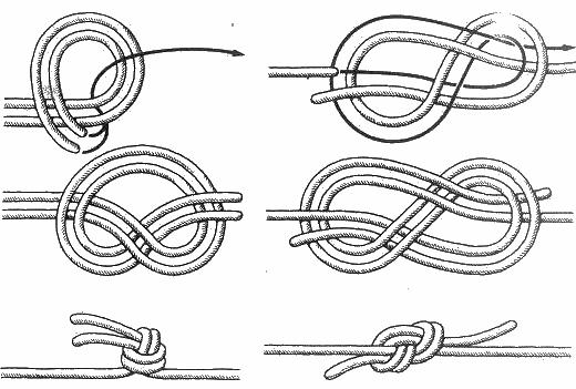 Схема вязания водяного узла