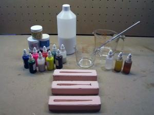 Форма, силикон, красители для изготовления силиконовых приманок