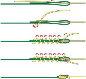 """Способ связывания узла """"Albright knot"""""""