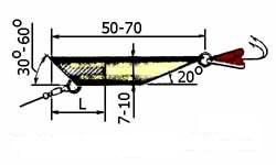 Блесна на судака из трубки