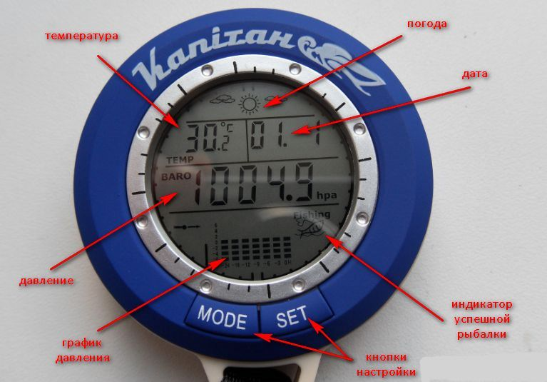 Функции барометра для рыбалки