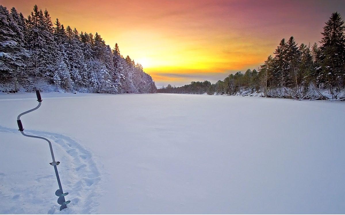 Зимнее место для ловли рыбы
