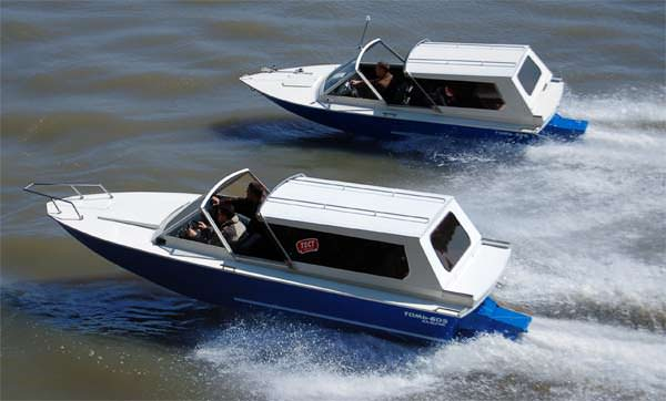 Водометные движители на лодках